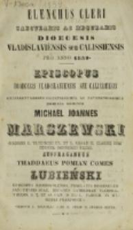 Elenchus Cleri Saecularis ac Regularis Dioecesis Vladislaviensis seu Calissiensis Anno Domini 1859