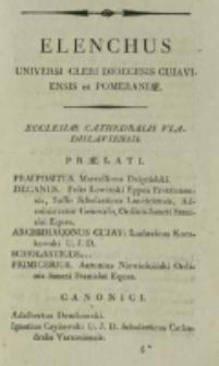 Elenchus Universi Cleri Dioecesis Vladislaviensis et Pomeraniae 1814