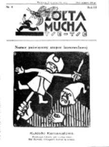 Żółta Mucha Tse-Tse. R. 3, nr 4 (25 stycznia 1931)