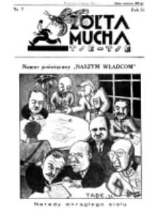 Żółta Mucha Tse-Tse. R. 3, nr 7 (9 lutego 1931)
