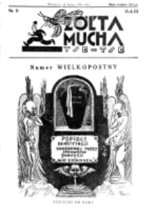 Żółta Mucha Tse-Tse. R. 3, nr 9 (22 lutego 1931)
