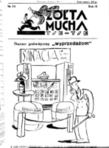 Żółta Mucha Tse-Tse. R. 3, nr 14 (16 marca 1931)