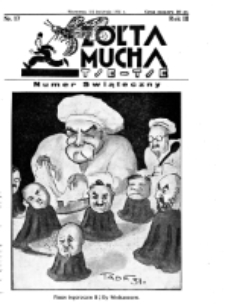 Żółta Mucha Tse-Tse. R. 3, nr 17 (5/6 kwietnia 1931)