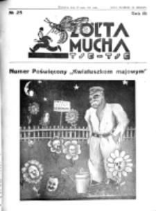 Żółta Mucha Tse-Tse. R. 3, nr 25 (25 maja 1931)