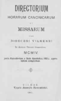 Directorium Horarum Canonicarum et Missarum pro Dioecesi Vilnensi 1904