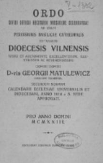 Directorium Horarum Canonicarum et Missarum pro Dioecesi Vilnensi 1923