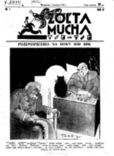 Żółta Mucha Tse-Tse. R. 4, nr 1 (3 stycznia 1932)