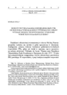 Konstytucyjna zasada oddzielenia państwa od kościoła w działalności Wydziału do Spraw Wyznań Urzędu Wojewódzkiego w Krośnie wobec Kościoła Katolickiego.