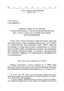 Geneza i treść wytycznych w sprawie realizacji art. 17 TFUE przez Komisję Europejską.