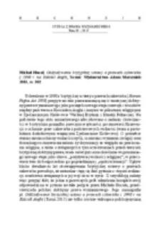 Recenzja : Michał Hucał, Oddziaływanie brytyjskiej ustawy o prawach człowieka z 1998 r. na Kościół Anglii, Toruń: Wydawnictwo Adam Marszałek 2015, ss. 302.