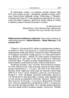 Międzynarodowa konferencja naukowa pt. Status osoby duchownej we współczesnym państwie, Bańska Bystrzyca – Badin (Słowacja), 11-13 września 2017 r.