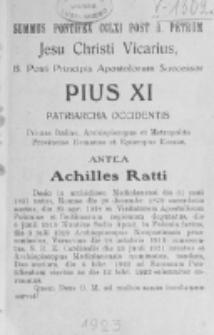 Catalogus Ecclesiarum et Cleri Dioecesis Vilnensis pro Anno Domini 1923
