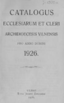 Catalogus Ecclesiarum et Cleri Dioecesis Vilnensis pro Anno Domini 1926