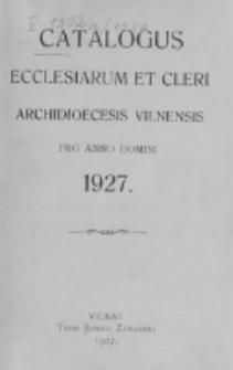 Catalogus Ecclesiarum et Cleri Dioecesis Vilnensis pro Anno Domini 1927