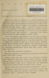 Matematyczny i filozoficzny interpretacjonizm materii / Mieczysław A. Krąpiec.