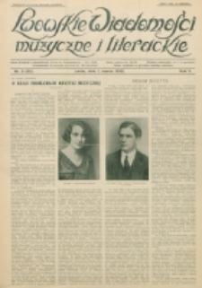 Lwowskie Wiadomości Muzyczne i Literackie : organ Związku Muzyków-Pedagogów, poświęcony sprawom kultury muzycznej i twórczości literackiej. R. 5, nr 3=52 (1930) 1 marca 1930