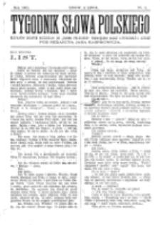 Tygodnik Słowa Polskiego. Nr 1 (1902)