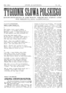 Tygodnik Słowa Polskiego. Nr 22 (1902)