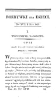 Rozrywki dla Dzieci. R. 2, T. 3, nr 17 (1825)