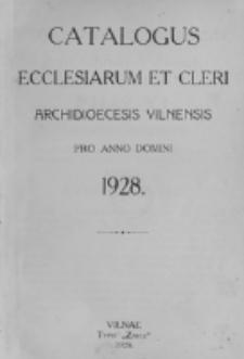 Catalogus Ecclesiarum et Cleri Dioecesis Vilnensis pro Anno Domini 1928