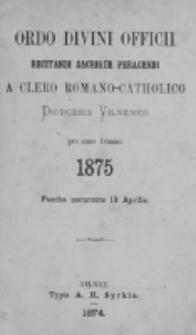 Directorium Horarum Canonicarum et Missarum pro Dioecesi Vilnensi 1875