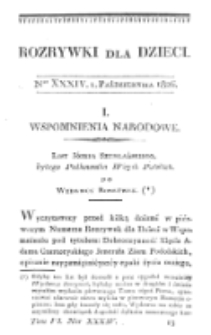 Rozrywki dla Dzieci. R. 5, T. 6, nr 34 (1826)