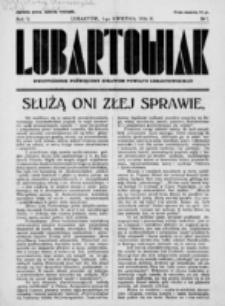 Lubartowiak : miesięcznik poświęcony wychowaniu młodzieży starszej. R. 5, nr 7 (1936)