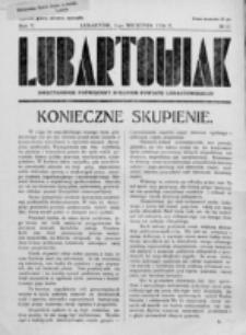 Lubartowiak : miesięcznik poświęcony wychowaniu młodzieży starszej. R. 5, nr 17 (1936)