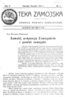 Teka Zamojska. R. 2, nr 1 (1919)