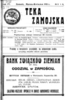 Teka Zamojska. R. 4, nr 3/4 (1921)