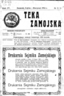Teka Zamojska. R. 4, nr 7/8 (1921)