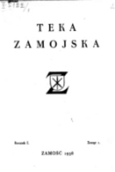 Teka Zamojska. R. 1=5, nr 1 (1938)