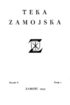 Teka Zamojska. R. 2=6, nr 2 (1939)