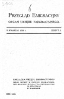 Przegląd Emigracyjny : organ Urzędu Emigracyjnego. Z. 2 (II kwartał 1926)