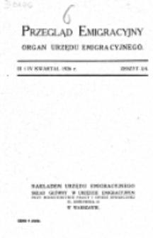 Przegląd Emigracyjny : organ Urzędu Emigracyjnego. Z. 3/4 (III i IV kwartał 1926)