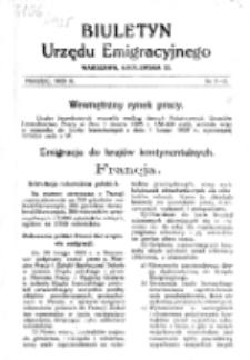 Biuletyn Urzędu Emigracyjnego. Nr 1/2 (marzec 1925)