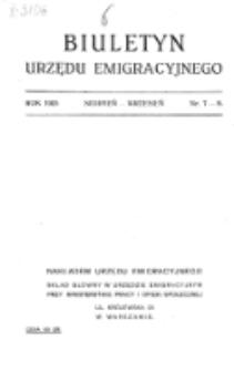 Biuletyn Urzędu Emigracyjnego. Nr 7/8 (sierpień/wrzesień 1925).