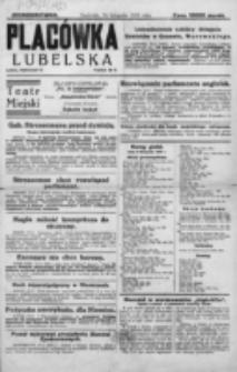 Placówka Lubelska : jednodniówka. 18 listopada 1923 roku.