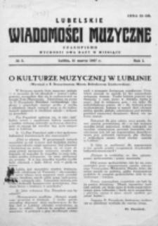 Lubelskie Wiadomości Muzyczne : czasopismo.R. 1, nr 3 (11 marca 1937)