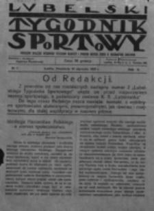 Lubelski Tygodnik Sportowy. R. 2, nr 1 (1925)