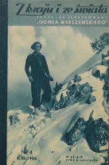 """Z Kraju i ze Świata : przegląd ilustrowany """"Gońca Warszawskiego"""". R. 2, nr 1 (1937)"""