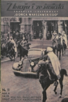 """Z Kraju i ze Świata : przegląd ilustrowany """"Gońca Warszawskiego"""". R. 2, nr 11 (1937)"""