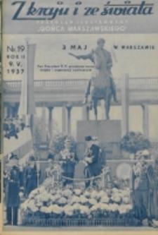 """Z Kraju i ze Świata : przegląd ilustrowany """"Gońca Warszawskiego"""". R. 2, nr 19 (1937)"""