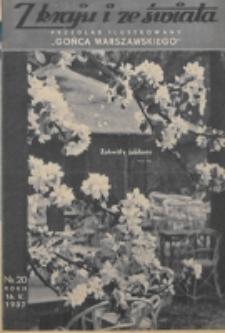 """Z Kraju i ze Świata : przegląd ilustrowany """"Gońca Warszawskiego"""". R. 2, nr 20 (1937)"""