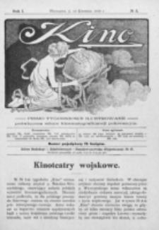 Kino : pismo ilustrowane poświęcone sztuce kinematograficznej i pokrewnym. R. 1, nr 5 (10 kwietnia 1919)