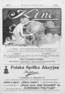 Kino : pismo ilustrowane poświęcone sztuce kinematograficznej i pokrewnym. R. 1, nr 6 (17 kwietnia 1919)
