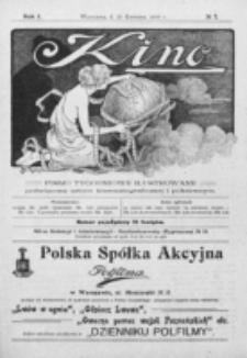 Kino : pismo ilustrowane poświęcone sztuce kinematograficznej i pokrewnym. R. 1, nr 7 (25 kwietnia 1919)