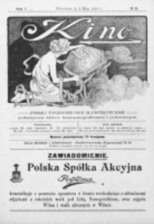 Kino : pismo ilustrowane poświęcone sztuce kinematograficznej i pokrewnym. R. 1, nr 8 (2 maja 1919)