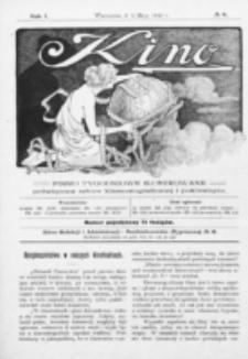 Kino : pismo ilustrowane poświęcone sztuce kinematograficznej i pokrewnym. R. 1, nr 9 (8 maja 1919)
