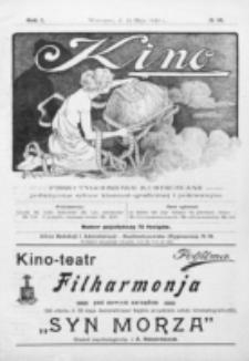Kino : pismo ilustrowane poświęcone sztuce kinematograficznej i pokrewnym. R. 1, nr 10 (15 maja 1919)